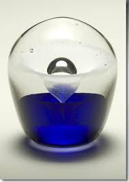 small keepsake urns blue enduring cremains encased in glass keepsake urn small