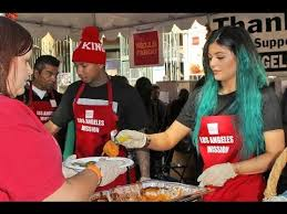 jenner tyga serve thanksgiving dinner to the homeless