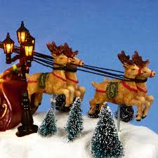 Sleigh and Deer Christmas Decoration Multi Colour LEDs