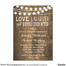 rustic invitations rustic wood engagement party invitation engagement party