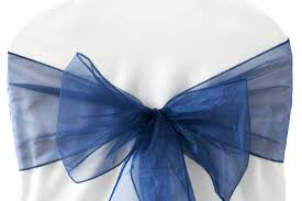 navy blue chair sashes aliexpress buy 100pcs navy blue organza chair sashes bow for