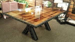 Dining Room Table Rustic Rustic Wood And Metal Dining Table Best Gallery Of Tables Furniture