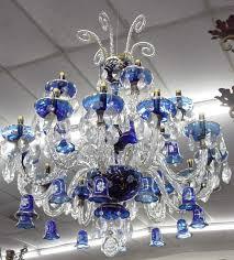 blue crystal chandelier light cobalt blue glass crystal chandelier colors blue and white