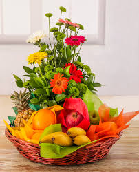 fruit and flower basket netflorist fresh fruit and flower basket small for style