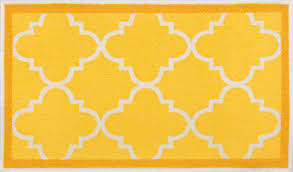 Rubber Backed Bathroom Rugs by Dallas Moroccan Trellis Yellow Gold And White Modern Geometric
