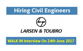 l u0026t walk in interview for civil engineers diploma engineers on