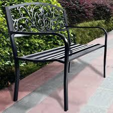 black wrought iron garden bench benches wrought iron garden