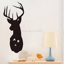 60 23cm pvc animal blackboard sticker deer shape chalkboard kids 60 23cm pvc animal blackboard sticker deer shape chalkboard kids room plate wall sticker office