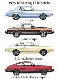 mustang models by year pictures ford ads and period pictures 1975 ford mustang ii models jpg