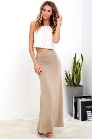 flowy maxi skirts light brown skirt maxi skirt knit skirt 38 00