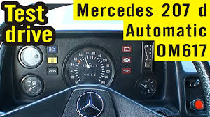 mercedes benz 207d with automatic gearbox met automaat automatik