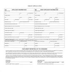 consumer credit application form template free example good resume