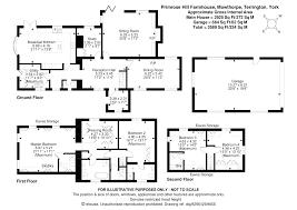 Castle Howard Floor Plan by Primrose Hill Farmhouse Mowthorpe Lane Terrington York Yo60