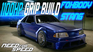 build ford mustang 2015 need for speed 2015 1100hp wide foxbody mustang customization