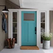 farmhouse outdoor lighting front door colors entry farmhouse with turquoise door firewood basket