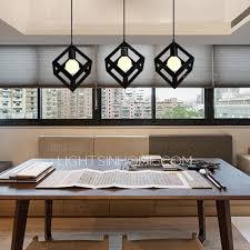 Contemporary Pendant Lighting Pendant Lights In Black 3 Light Wrought Iron