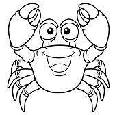 crab coloring sheet sea decor for kids pinterest coloring