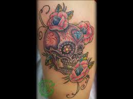 sugar skull tattoo arrowsandembers