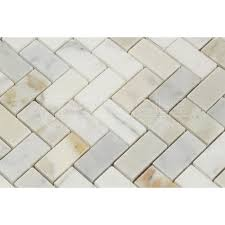 calacatta gold italian calcutta marble 1 x 2 herringbone mosaic