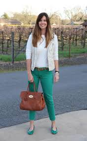 What To Wear With Light Jeans How I Wear My Green The Rich Life In Wine Country