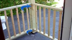 porch banister building balcony railing over flat roof 7 11 13 youtube