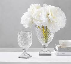 How To Decorate Flower Vase Decorative Vases U0026 Faux Flowers Pottery Barn