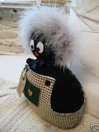 felt golliwog pattern handmade cute golly gollywog golliwog doorstop pre filled in black