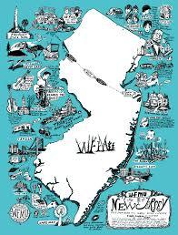 Map Of New Jersey Cities Wfmu U0027s Glow In The Dark Map Of Nj Wfmu U0027s Beware Of The Blog