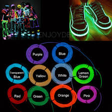 color led light strips 1m 2m 3m 5m flexible led strip light neon light glow el wire