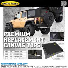 Jeep Wrangler Waterproof Interior Smittybilt Black Canvas Soft Top 9086235 Fits 2010 2014 Jeep