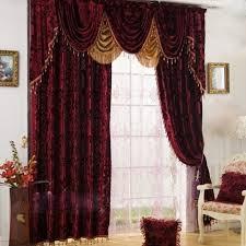 Burgundy Velvet Curtains High End Velvet Burgundy Blackout And Thermal Luxury Curtains