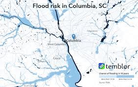 map of columbia south carolina us flood maps do you live in a flood zone temblor net