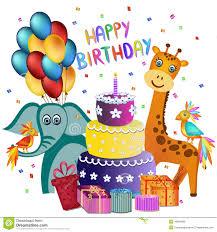happy birthday greeting card stock vector image 49842686