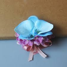Teal Corsage Silk Corsage Corsages Silk Flowers Artificial Flower Arrangement