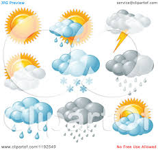 cartoon of weather icons royalty free vector clipart by pushkin