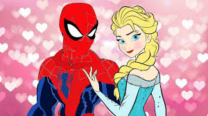 coloring spiderman vs elsa spider man and frozen elsa coloring