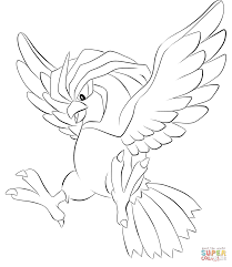 pidgeotto coloring page free printable coloring pages