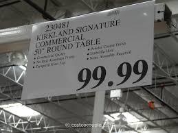 Costco Patio Furniture Sets Costco Patio Table Kirkland Signature 50 Inch Patio Table