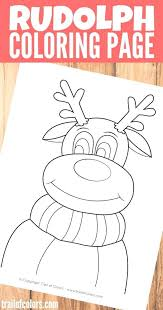 rudolph red nosed reindeer coloring pages printable grab