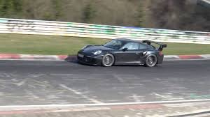 watch this 2018 porsche 911 gt2 rs test car rip up the nurburgring
