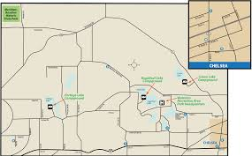 Chelsea Map Waterloo U0026 Meridian Baseline Recreation Area U0026 State Historic