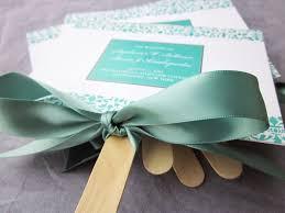 Fan Program Green White And Sage Wedding Fan Programs