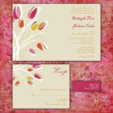 Invitation Card With Rsvp Modern Tulips Custom Wedding Invitation Suite With Rsvp Cards