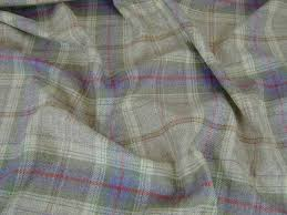 Curtain Upholstery Fabrics 100 Wool Tartan Plaid Lavender Green Stone Fabric Curtain