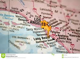 Los Angeles Suburbs Map Map Of Los Angeles Royalty Free Stock Photography Image 5033497
