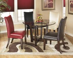 ashley charrell 5 pc glass dining set dining room sets