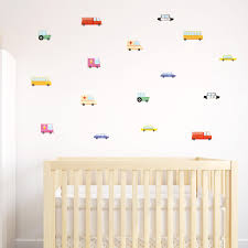 new cute wall stickers for kids rooms and nurseries made of sundays seinatarrat autot lastenhuoneeseen