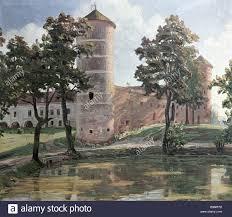 reproduction of antanas zmuidzinavicius s painting the old castle