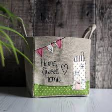 Gifts For A New Home Storage Basket Uk La Petite Maison Blanc Personalised Linen