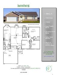 Springs Floor Plans c a jones inc welcome to a new experience in home building